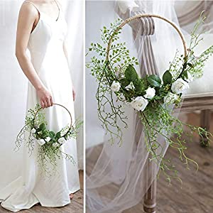 Bride's Wedding Holding a Flower Basket a Wreath Pure Manual Artificial Fake Rose Flower The Lawn Wedding Hotel is Decorated with Floral Decorations 102