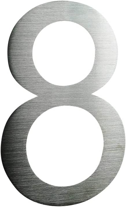 2 2 Hausnummer Edelstahl V2A Arial 2D XXL Gr/ö/ße 30cm Hoch rostfrei witterungsbest/ändig 0 1 2 3 4 5 6 7 8 9 a b erh/ältlich