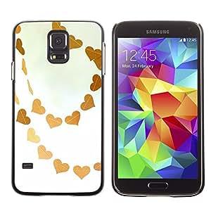 TopCaseStore / la caja del caucho duro de la cubierta de protección de la piel - Brown Sky Love White Art - Samsung Galaxy S5 SM-G900