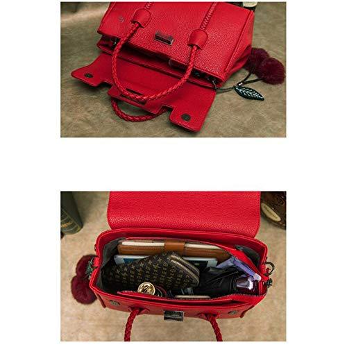 Bolso Las Genuino Señoras Red Bolsos De Zhi Crossbody Cuero Superior Hobo Manija Del Wu Mujeres La Hombro pS4TqRTw