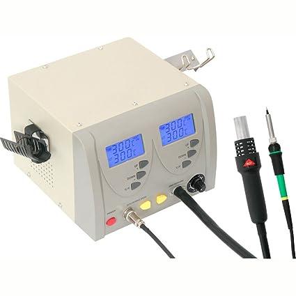 Estación soldadura aire caliente desoldar Digital Soldador estaño 24 W zd-912