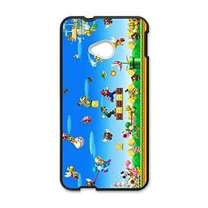 HTC One M7 phone case Black Super Mario Bros EDA6839507