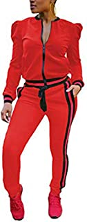Women's 2 Pieces Outfits Zipper Jacket and Pants Sweatsuits Tracksuits