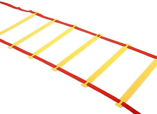Trifycore la formación de Escalera Escalera Velocidad Deporte de la Agilidad con una Bolsa para el fútbol, el Baloncesto, el Ejercicio de 20 pies (6 Metros) +12 escaleras Rojas, Depor: Amazon.es: Hogar