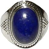 Lapis Lazuli Ring 03 Spiritual Healing Energy Size 8 (Gift Box)