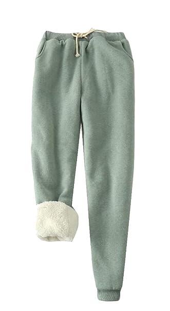 ShuangRun - Pantalones de chándal con Forro Polar para Mujer 1 M ...
