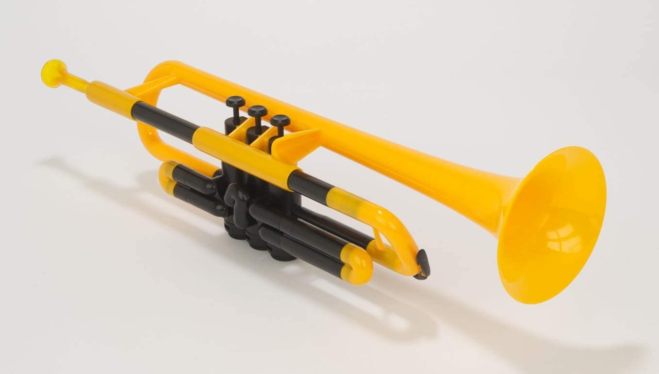 New pTrumpet Plastic Bb Trumpet with Gig Bag Free Shipping PTRUMPET1Y Yellow