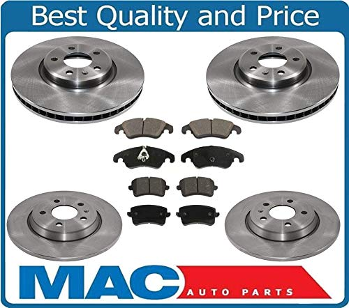 100% New Front Rear Brake Rotors & Brake Pads for Audi A4 & A4 Quattro 2.0 -