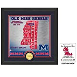 The Highland Mint NCAA Mississippi Old Miss Rebels State Bronze Coin Photo Mint, 18'' x 14'' x 3'', Bronze