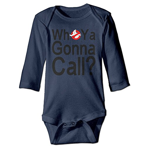 Discovery Wild DW Baby Ghostbusters Logo Who You Gonna Call Long Sleeve Climb Jumpsuit Navy 6 M