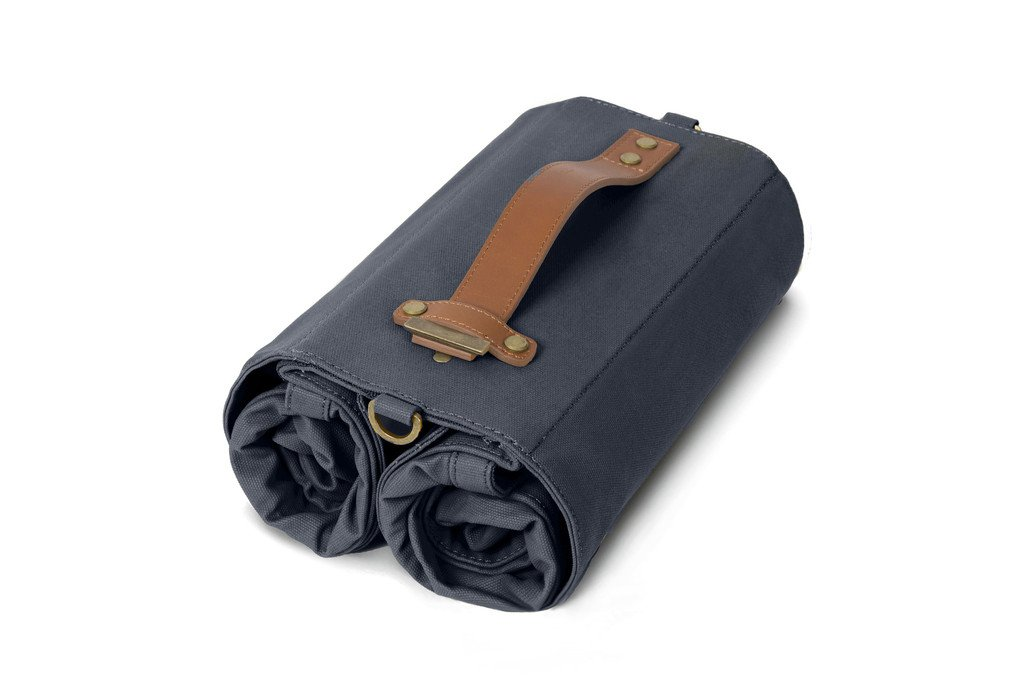 Linus Bike Market Roll-Up Pannier Bag - Navy