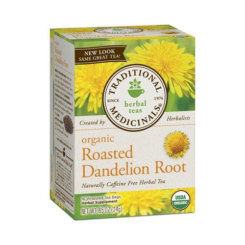 (Wholesale Traditional Medicinals Organic Roasted Dandelion Root Tea - Caffeine Free - 16 Bags, [Food, Tea])