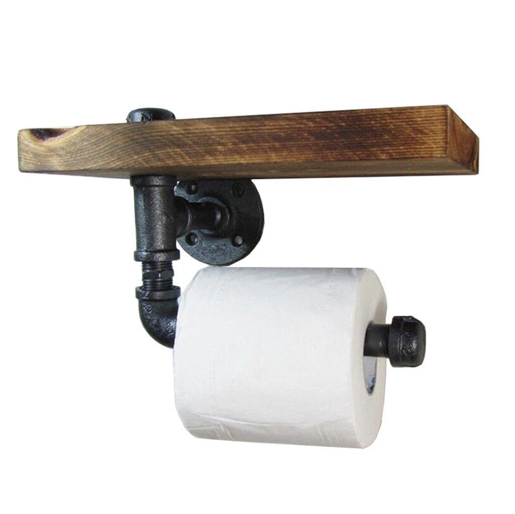 GQQ Vintage Paper Towel Rack, Industrial Wind Pipe Racks, Bathroom Wall partitions.