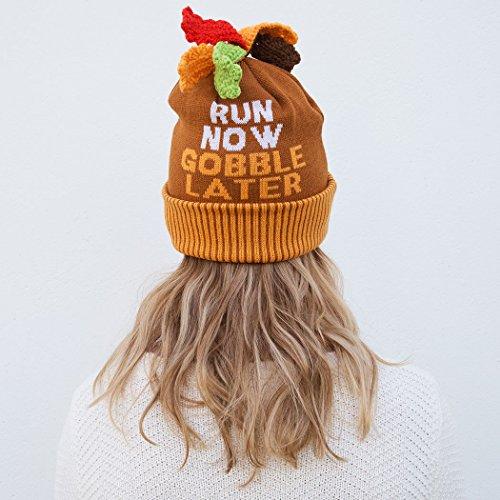 Gone For a Run Turkey Pom Pom Beanie Hat | Running Hats