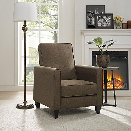 Naomi Home Landon Push Back Recliner Chair Chocolate/Linen