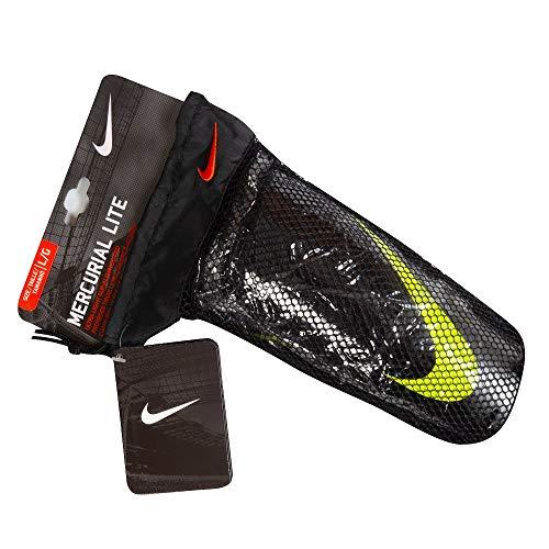 Nike Mercurial Lite Shinguard (BLACK///VOLT, Large)