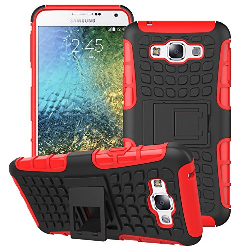 Slim Shockproof Case for Samsung Galaxy E7 (Red) - 1