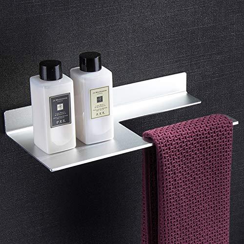 YIGII Hand Towel Holder Self Adhesive - Towel Ring with Bathroom  Shelf/Shower Shelf, Aluminum