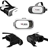"""VR Glass VR-015 (Newest Version)3D VR Virtual Reality Glasses Headset with NFC Tag for 3.5-6.0"""" All Brands of Mobiles Smartphones or Notes, for 3D Video, Movies & Games"""