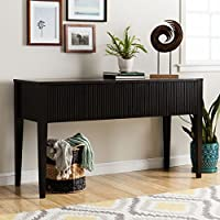 Contemporary Console Table Provides Style And Function. 60-Inch Long Accent Table Suitable For Living And Dining Rooms, Wide Entryways And Hallways. Espresso Hardwood And Clean Lines For Modern Feel.