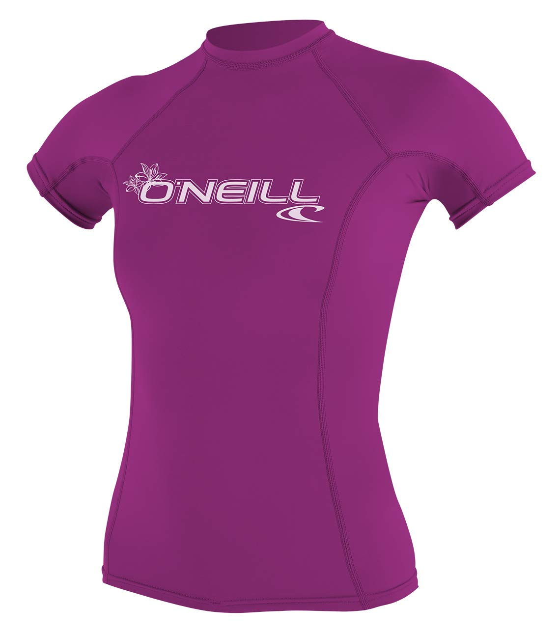 O'Neill Women's Basic 50+ Skins Short Sleeve Rash Guard, Fox Pink, X-Small by O'Neill Wetsuits