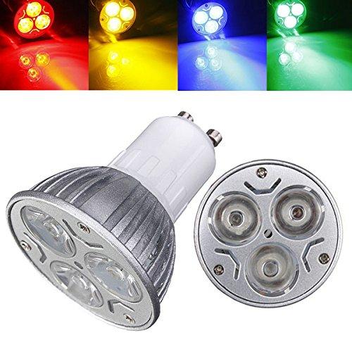 Blue Gu10 Led - Lights & Lighting - Gu10 3w Ac 220v 3 Leds Red/Yellow/Blue/Green Led Spot Light Bulbs - Cree Bulbs Mr16 Gu10 Dimmable Tri Light Volt Flood Reflector Base Spot - 120 - 1PCs