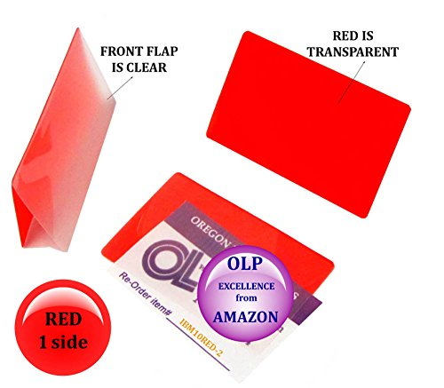 Oregon Lamination Hot Laminating Pouches IBM Card (pack of 200) 10 mil 2-5/16 x 3-1/4 Red/Clear by Oregon Lamination Premium