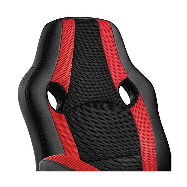 TecTake 800781 Chaise Fauteuil de Bureau en Similicuir, Chaise pivotante, Siège Racing, Siège Baquet, réglable en…