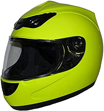 Protectwear Casco Integrale da Moto M Nero//Giallo 57-58 cm