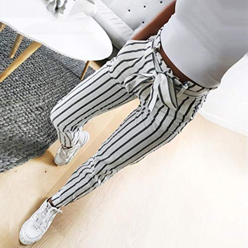 Pants High Ladies Fashion New Tie Jeans Skinny White Striped Hotsellhome Long Waist Trousers Women's PHqd8