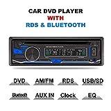 LSLYA(TM) 1 DIN 12V Car Stereo DVD/CD/Bluetooth Player Radio MP3/USB/SD/TF/AUX/FM/AM/RDS Support Remote