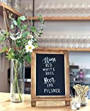 Small Rustic Table Top Chalkboard Easel Sign with