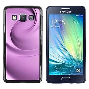 Be Good Phone Accessory // Dura Cáscara cubierta Protectora Caso Carcasa Funda de Protección para Samsung Galaxy A3 SM-A300 // Floral Silk Purple Fabric Clean Bright