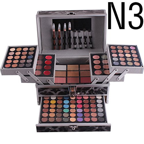 RoseFlower Pro 132 Colors All In One Makeup Kit Cosmetic Contouring Palette (Concealer, Face Powder, Lipgloss, Blusher, Contour Shade, Lip Liner, Eye Liner and Eyebrow powder)#4 ()