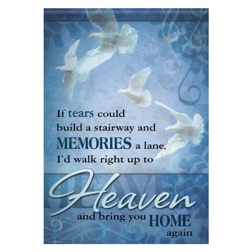 Carson - If Tears Garden Flag, Blue, Polyester, 13 x 18 in. (Memorial Flag)