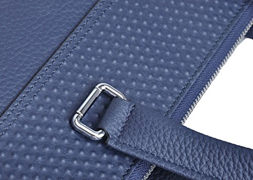 Haagendess Business Mens Bag Leather Laptop Briefcase Hand Bag (Blue) by haagendess (Image #2)