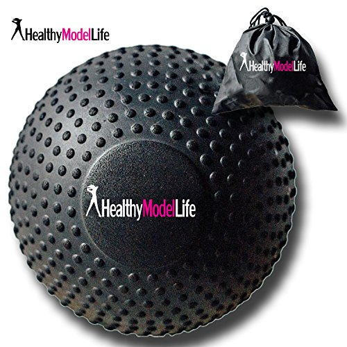 """5"""" Foam Roller Massage Ball by Healthy Model Life Better Than Any Foam Roller For Trigger Point and Glute Release Includes Free Carry Bag"""