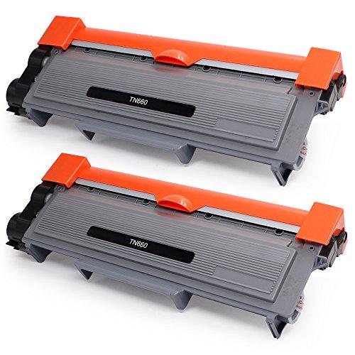 Freshworld 2 Pack Compatible Brother TN660 TN-660 TN630 Toner Cartridge Black for Brother HL-L2340DW HL-L2300D HL-L2380DW MFC-L2700DW MFC-L2740DW DCP-L2540DW DCP-L2520DW HL-L2320D MFC-L2720DW Printer