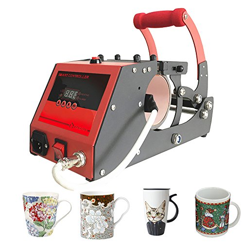 Heat Transfer Sublimation Mug Heat Press Transfer Printing Machine for Coffee Mugs Cups with One Stainless Steel Mug Attachment 11OZ Bosstop by Bosstop