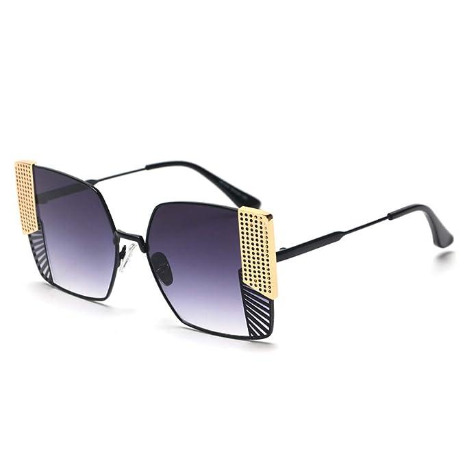 Amazon.com: Gafas de sol para hombre y mujer, marco de metal ...