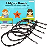 Fidget Bands for Bouncy Feet and Restless Legs - Fits Chairs and Desks (Up to 36 In) - Latex-Free Ideal for Those With ADD, ADHD, OCD, Anxiety (5-Pack)
