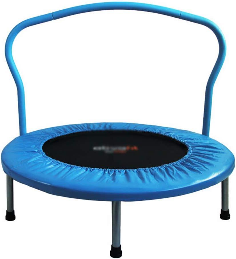 QXTT Trampolín Fitness Plegable para Niños Mini Trampolín De 91cm Trampolín para Interiores Y Exteriores con Asa Seguro Y Duradero Equipamiento Deportivo Máx 80kg,Blue