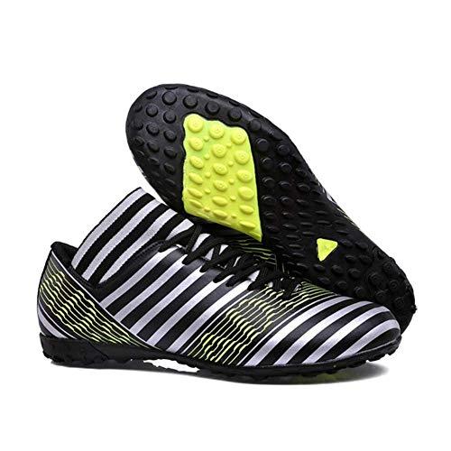 Calcio Uomo Fhtd Tacchetti scarpe Uomo Calcio Traspiranti Uomo Black Ginnastica scarpe Con Basse Da Scarpe da Antiscivolo XqrXv
