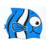 DreamHank Silicone Cute Swim Cap bathing Cap for kids,Children, Girls and Boys