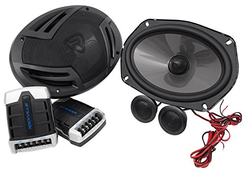 Pair Rockville RV69.2C 6x9 Component Car Speakers 1000 Watts/220w RMS CEA Rated ()