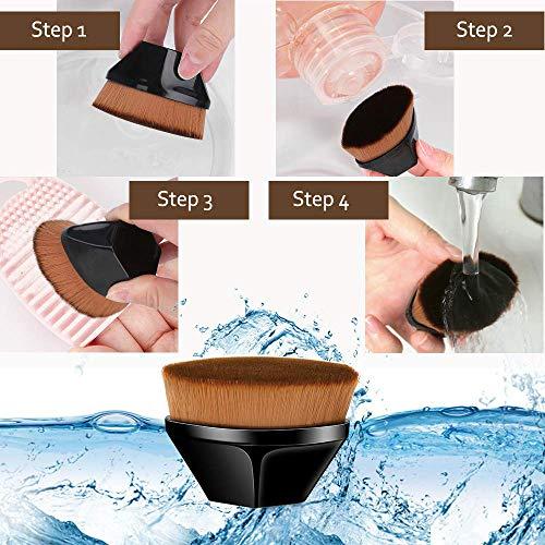 Faraone4w Foundation Brush Liquid Brush Make up Brush with Synthetic Dense Bristles Professional Makeup Brush for Cream Mixed Liquid Flawless Powder Cosmetics