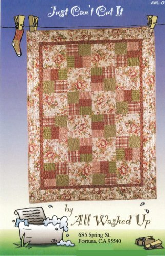 Just Can't Cut Quilt Pattern, For Large & Scenic Prints and Panels, 7 Size Options