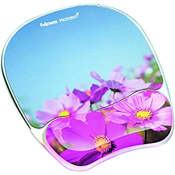 Amazon fellowes photo gel mouse pad and wrist rest with fellowes photo gel mouse pad and wrist rest with microban protection pink flowers 9179001 mightylinksfo