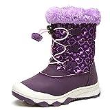 UBELLA Children Boy's Girl's High-top Winter Warm Fur Zipper Snow Boots