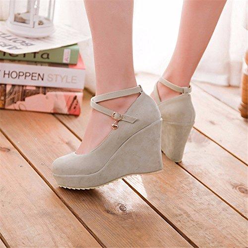 suede zapatos tacones agua tacones Mesa tacones zapatos Beige de talón mujeres t1wazq